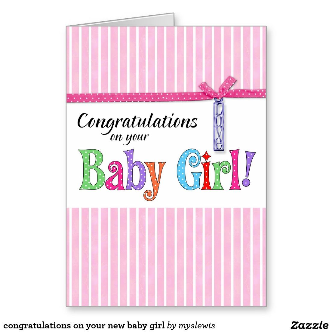 Congratulations on your new baby girl greeting card sold to congratulations on your new baby girl greeting card sold to michael in california united states kristyandbryce Images