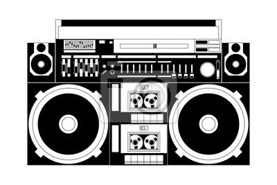 Wall Mural Old School Boombox Isolated Pixersize Com Boombox Art Boombox Freestyle Music