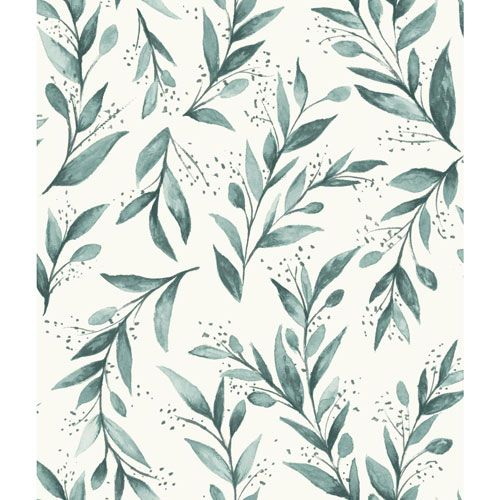 Magnolia Home Olive Branch Weekends (Teal) Wallpaper