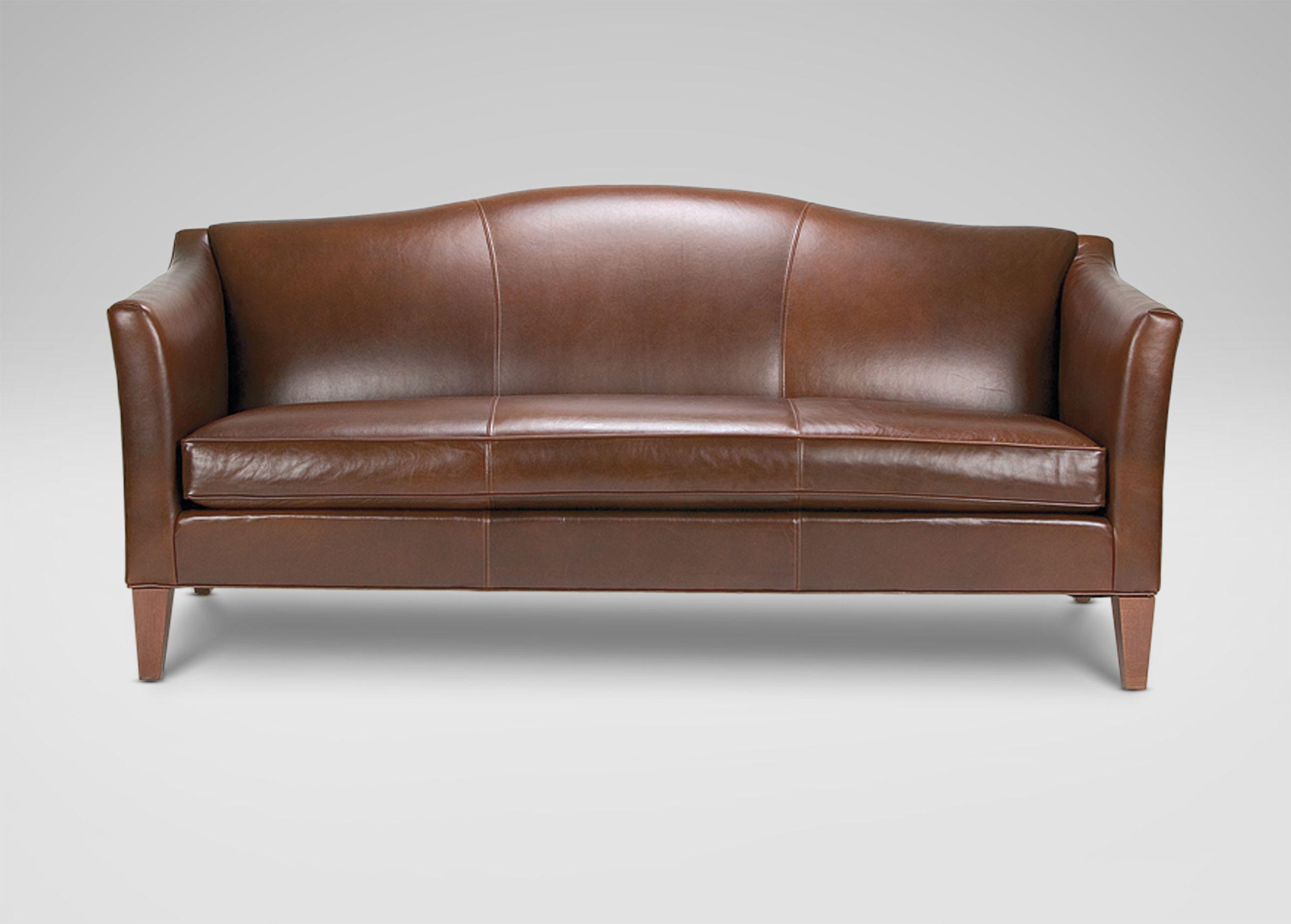 Hartwell Bench Cushion Leather Sofa Ethan Allen Sofa Sleek