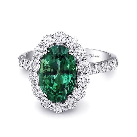 (LSK10037-ALX) This beautiful Alexandrite #ring from #CoastDiamond is simply stunning! #diamond #green #fashion