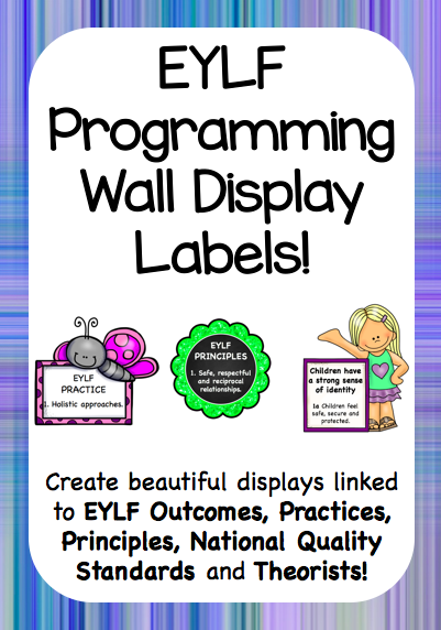 One thing assessors, parents and educators look at in your early education classrooms is taht you are linking your wall displays to outcomes, practices, principles, philosophies, theories and quality areas.These...
