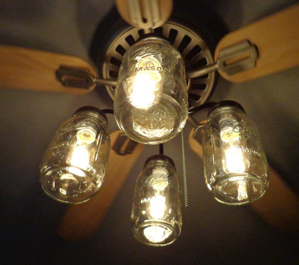 ceilings gorgeous fan light bathroom diy lights fixtures fixture ceiling jar lighting mason island kitchen kit chandelier