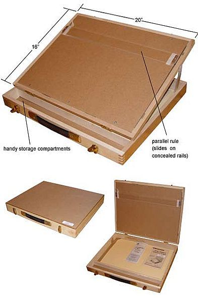 Homemade portable drawing board desk pesquisa google for Box table design