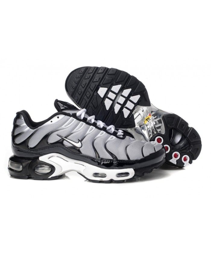 new product f0d85 10e69 Black Friday Nike Air Max TN Mens Black Grey White Sale ...