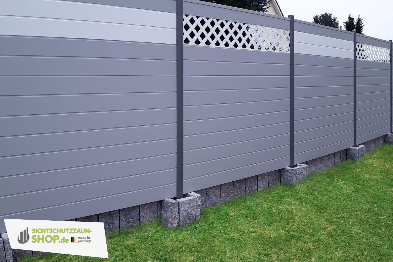 Diy Sichtschutz In Grau Sichtschutzzaun Zaun Gartenmauern