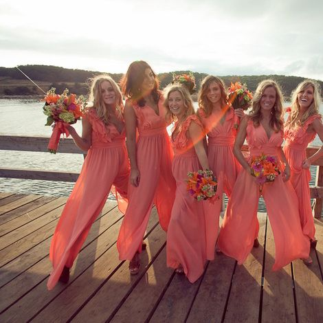 Bridesmaids In Rompers