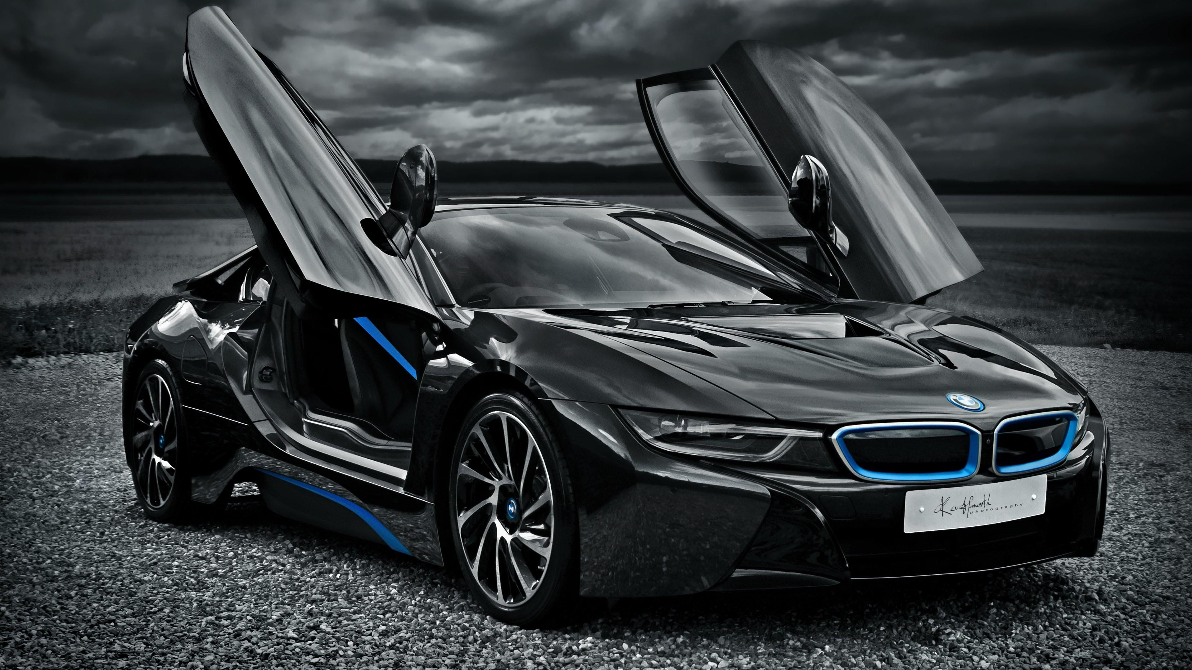 Bmw Bmw I8 Supercar Black Car Luxury Car Cloud Dark 4k Wallpaper Hdwallpaper Desktop In 2020 Bmw I8 Bmw I8 Black Bmw