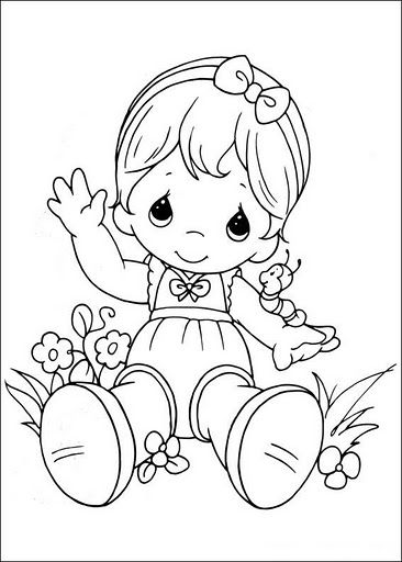 Dibujos infantiles de precious Moments para colorear | Digital ...