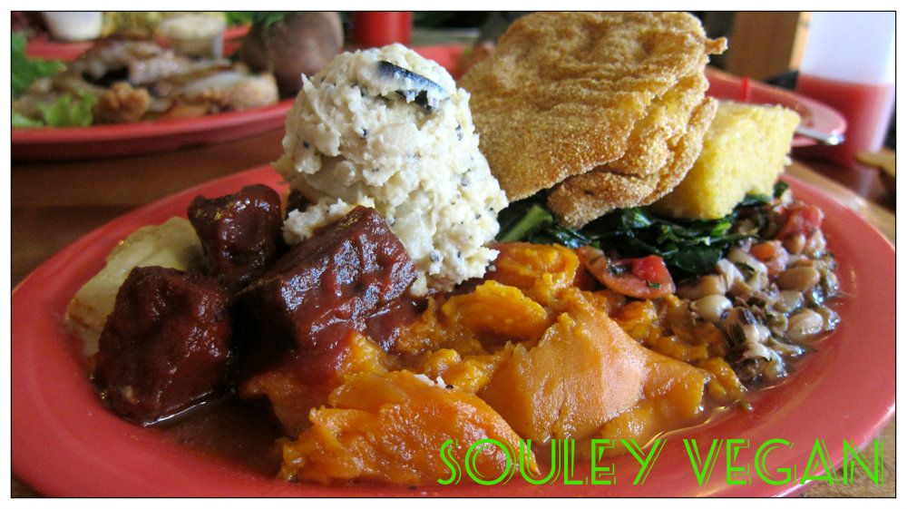 How Does Everything Sound This Dish Is From A Restaurant Called Souley Vegan It S A Vegan Soul Food Restaurant Located Oa Vegan Eating Vegan Soul Food Food