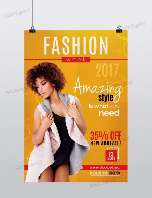 Fashion Week 2017 Free Psd Flyer Template Httpstockpsd