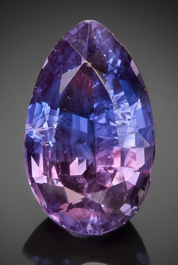 Vibrant Bicolor Purple And Blue Sapphire Gemstones