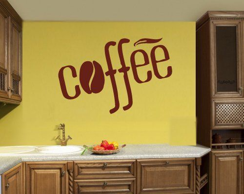 Coffee Tea Shop Restaurant Business Mural Wall Art Decor Vinyl ...