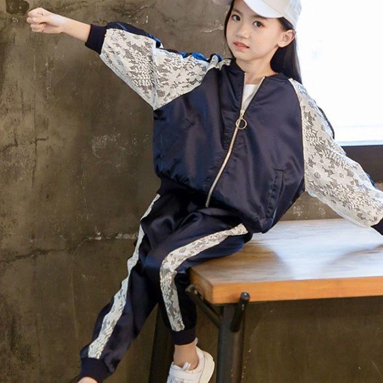 1e663430e4db lace patchwork teen girls set autumn 2018 big girls clothing sport ...