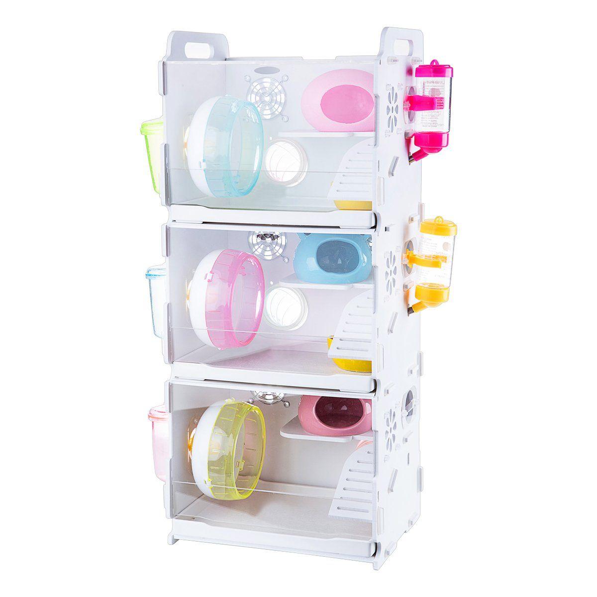 crystalzoo Crystal Acrylic Hamster Three Floors Pet Cage