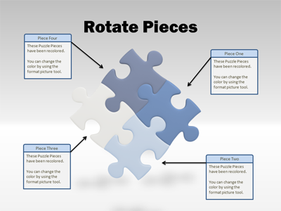 Powerpoint Template  Puzzle Piece Tool Kit  Puzzle Pieces Tool