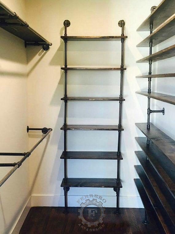 6 Tier Shelf Steampunk Shelf, Industrial Shelf, Store Shelf, Book Shelfu2026