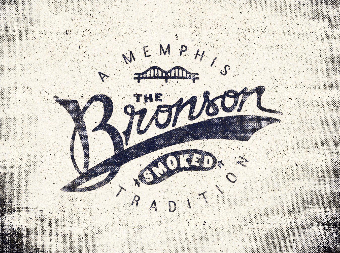 Un logo basado en tipografía muy bien diseñado. Bronson /// Adam Trageser