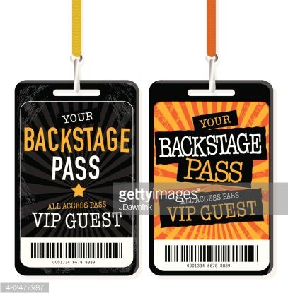 Paris + Capulets have backstage passes (Is this also useful for - free vip pass template