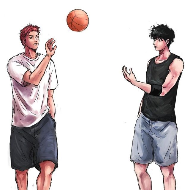 Slam Dunk -Kaede Rukawa & Hanamichi Sakuragi
