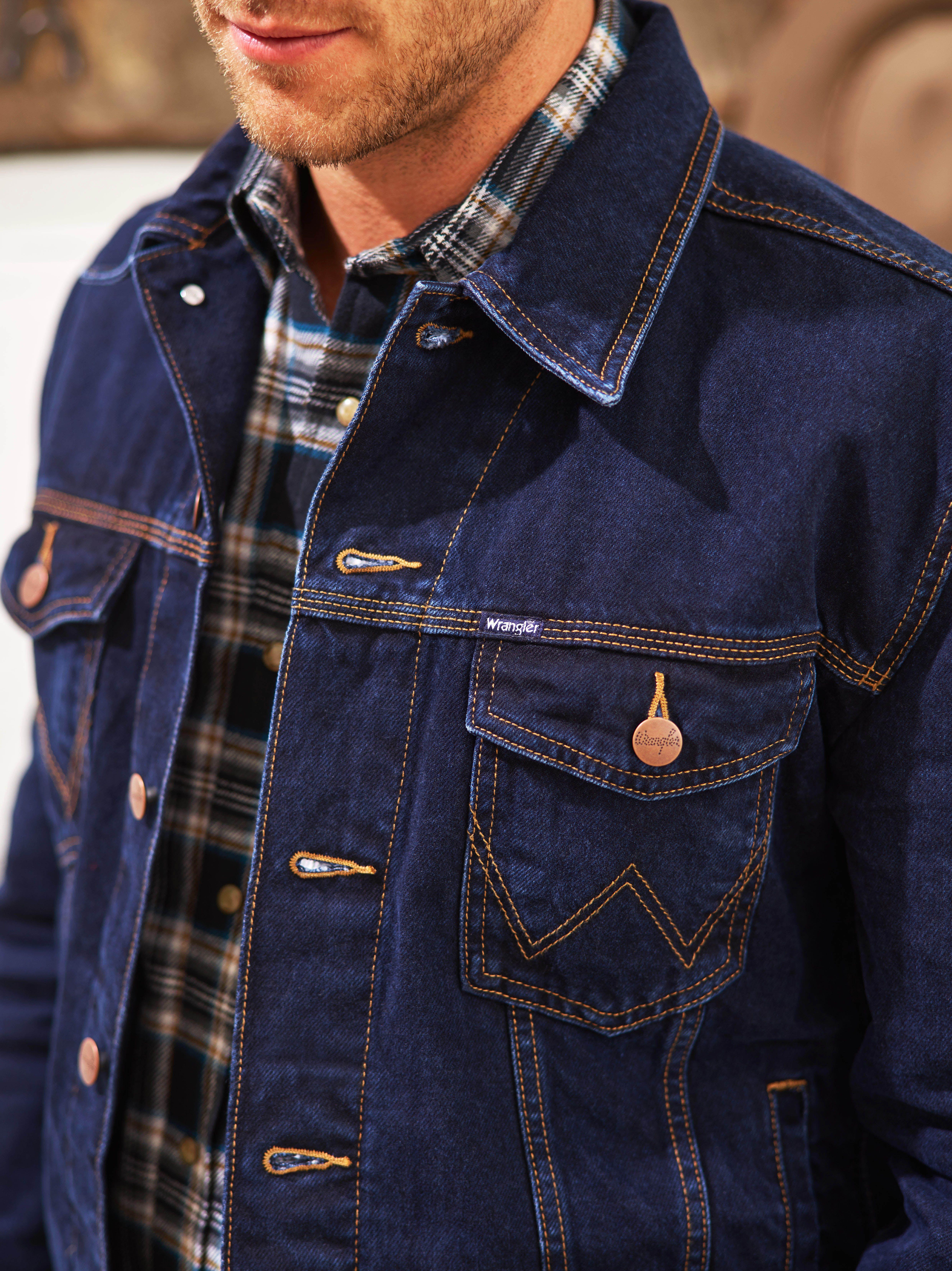 Wrangler Jeans Jacket Denim Shirt With Jeans Denim Jacket Men Wrangler Jeans [ 6624 x 4966 Pixel ]