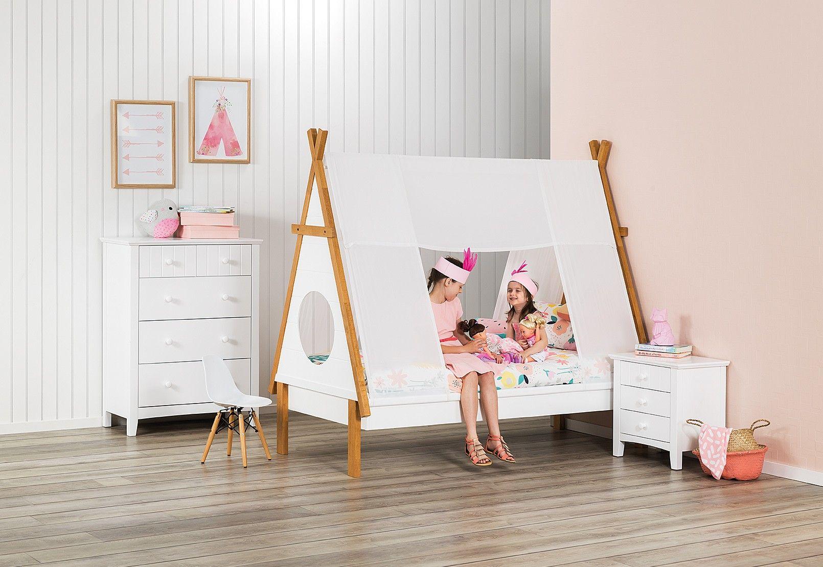 Hopi Single Teepee Bed Amart Furniture Canopy bedroom