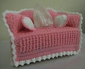 For the Love of Crochet Along: sofa tissue box cover