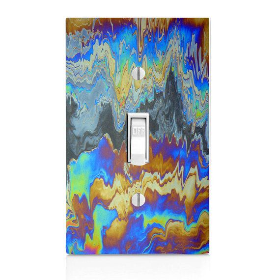 Light Switch Cover-Beautiful Oil Slick Printed swichplate-Wall ...