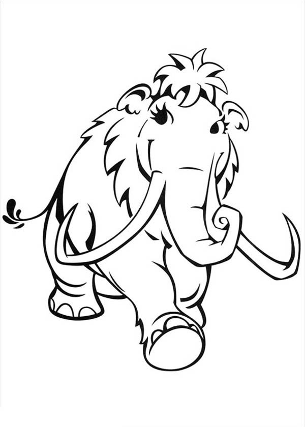 Lovely Peaches Walking Around In Ice Age Coloring Pages Bulk Color Coloring Pages Cartoon Coloring Pages Ice Age