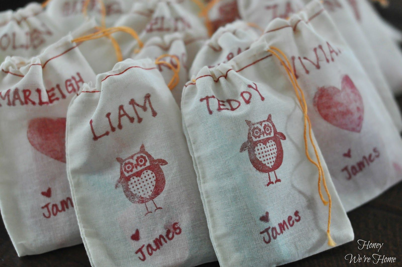 Personalized Gift Bags (party favor bags or Valentine's treat bags!)