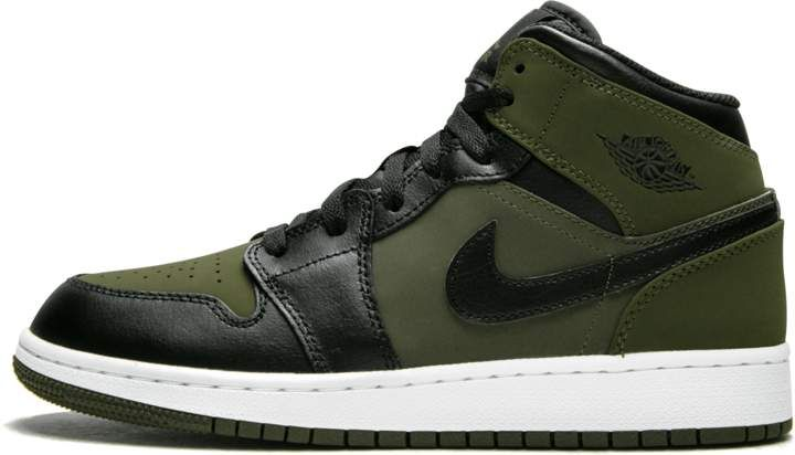 Jordan Air 1 MID (GS) Olive Canvas  Black  58cf5a24c