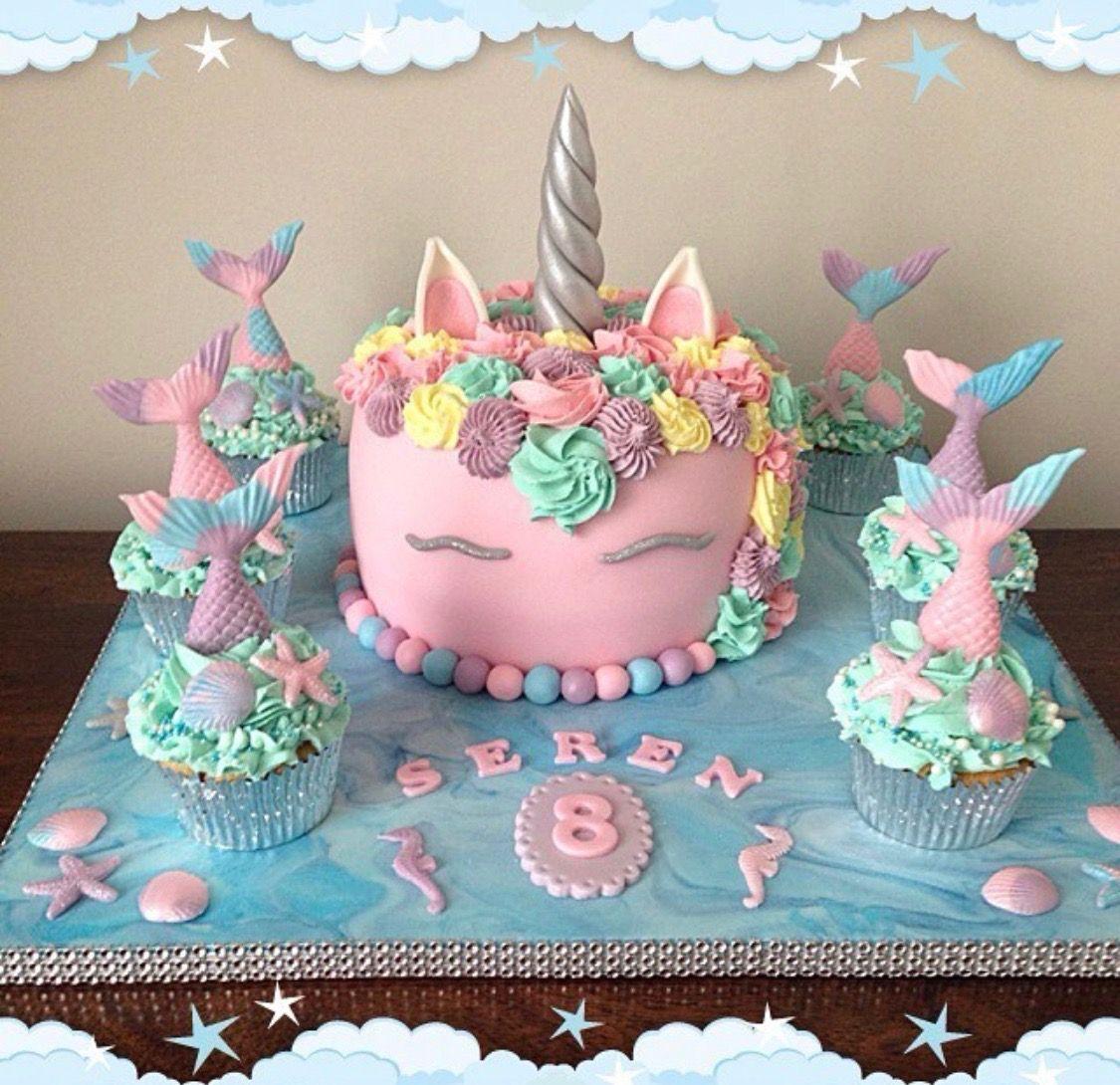 Mermicorn Cake Mermaid Cake Unicorn Cake Magical Cake With