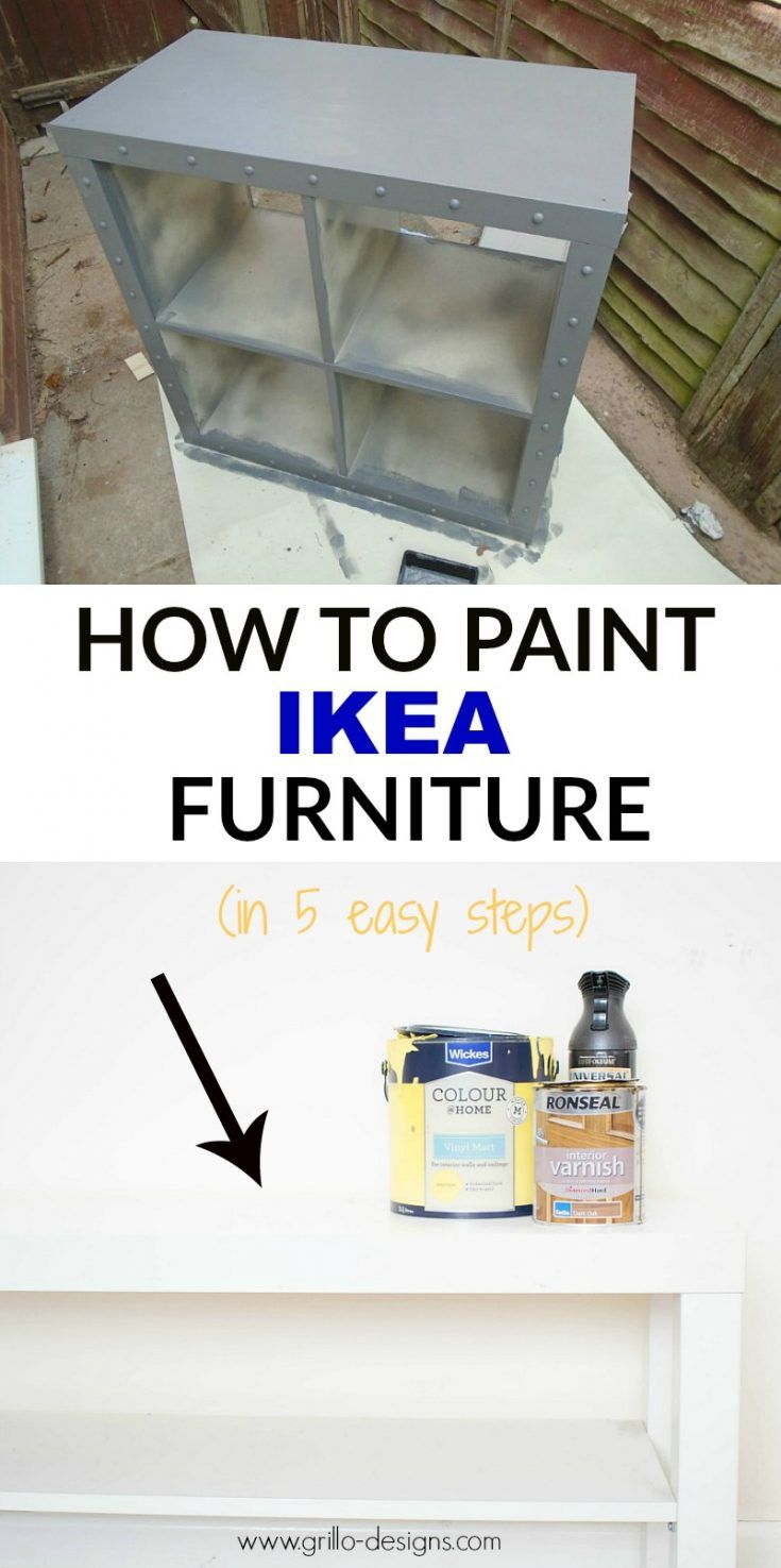 How To Paint IKEA Furniture (in 5 easy steps)   Bricolaje, Pinturas ...