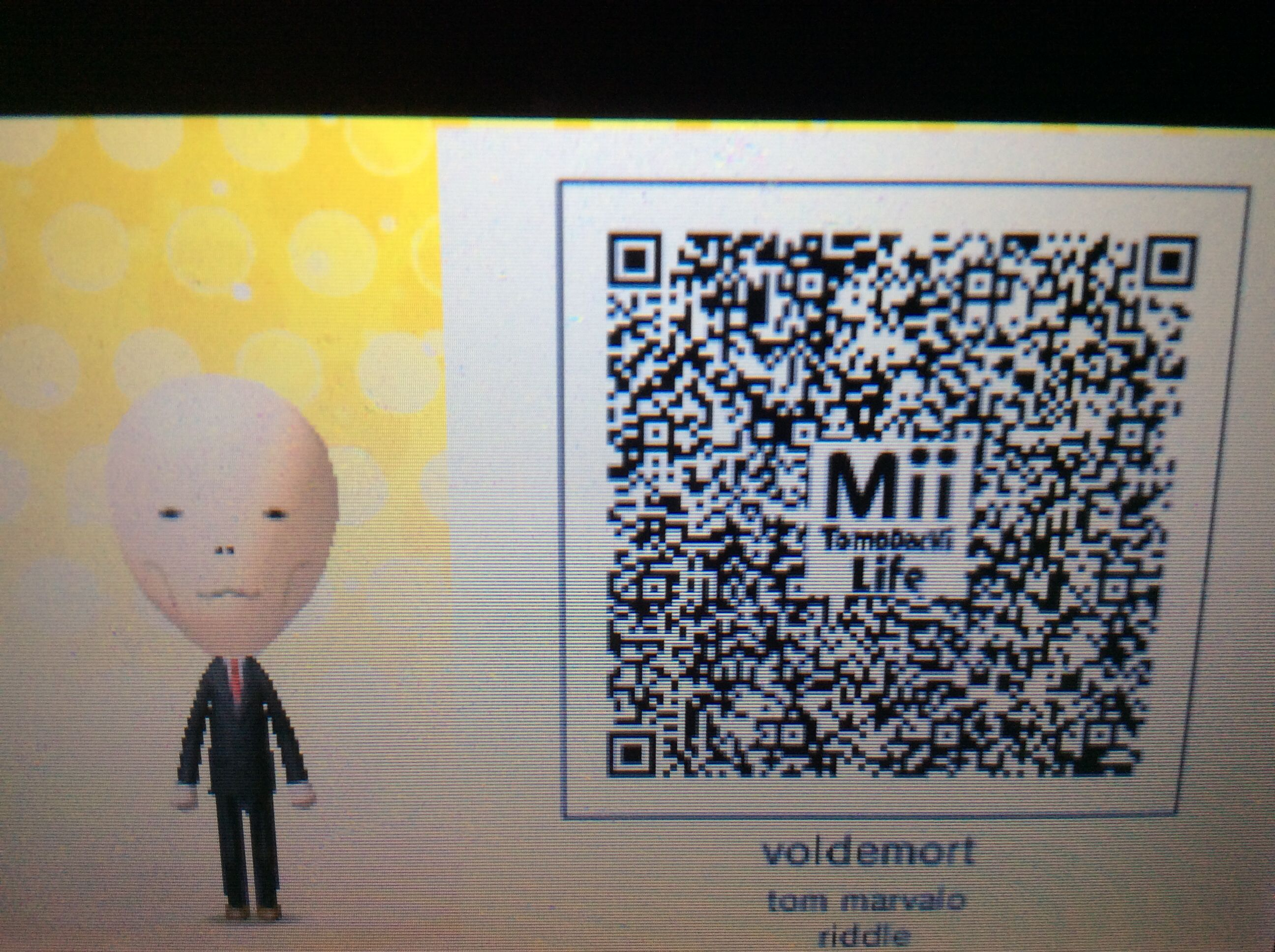 Voldemort Tomodachi Life Qr Code Coding Qr Code Voldemort