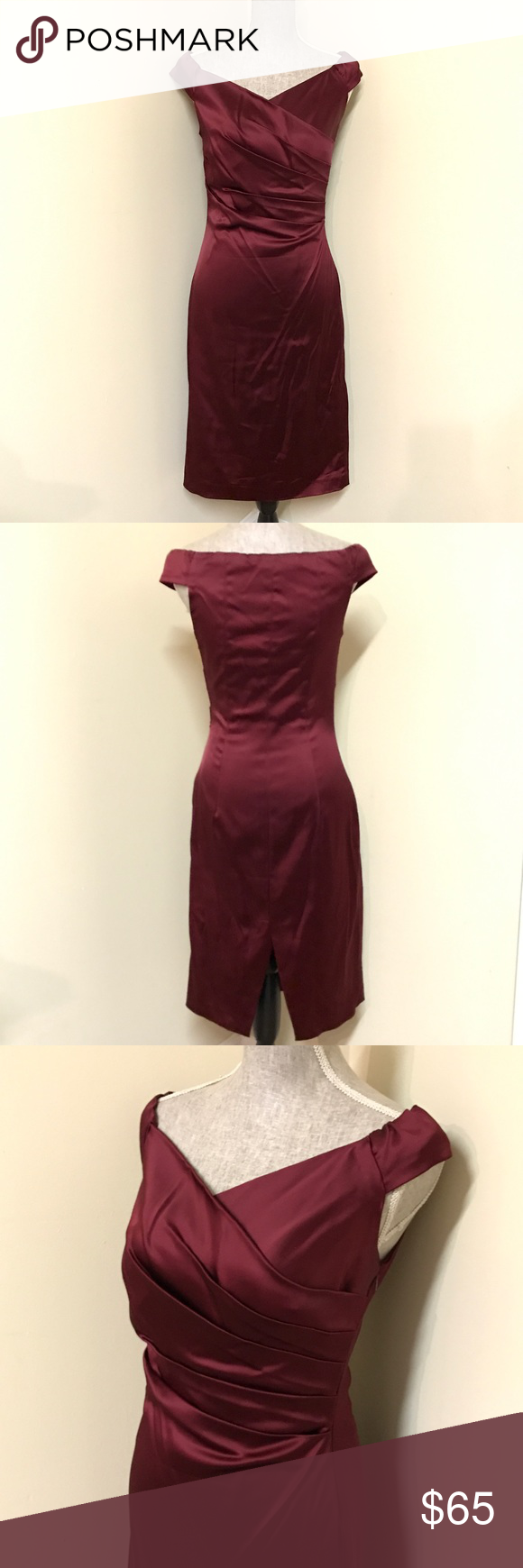 Cache Deep Red Formal or Cocktail Dress