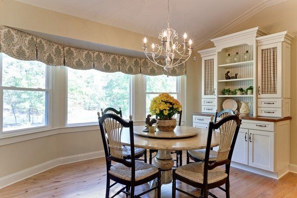 Dining room valances for windows classic pattern traditional style ...