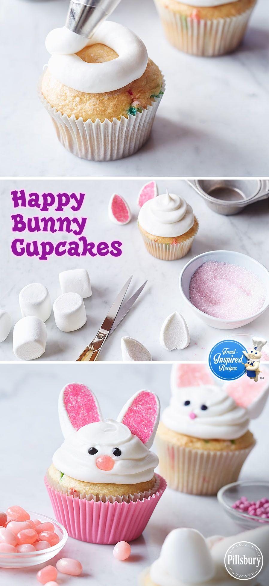 Happy bunny cupcakes recipe bunny cupcakes white cupcakes and