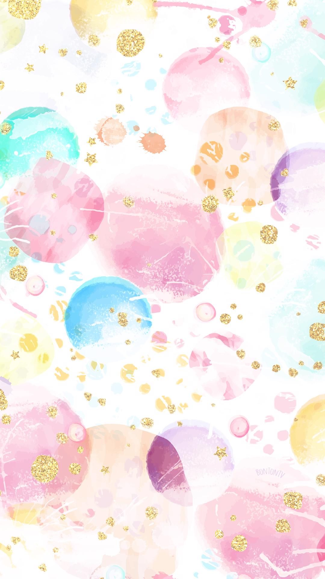 Phone Wallpapers HD Watercolor Gold  by BonTon TV  Free Backgrounds 1080x1920 wallpapers iPhone smartphone Here you can find a collection of elegant cute and girly colorf...