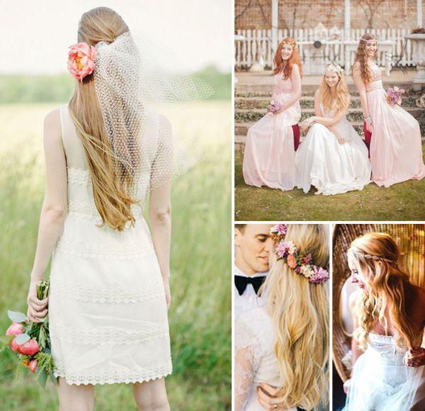 Prime 1000 Images About Boho Wedding Ideas On Pinterest Boho Wedding Short Hairstyles Gunalazisus