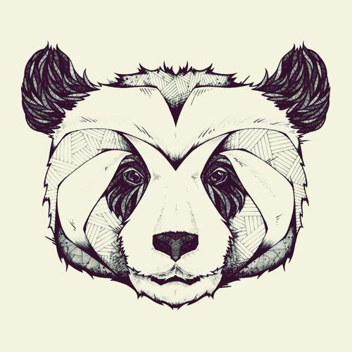 geometric panda | Tumblr | Draw | Pinterest | Panda ...