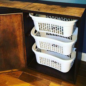 Porte-panier à linge Salle de lavage Decor Organisateur de blanchisserie | Etsy