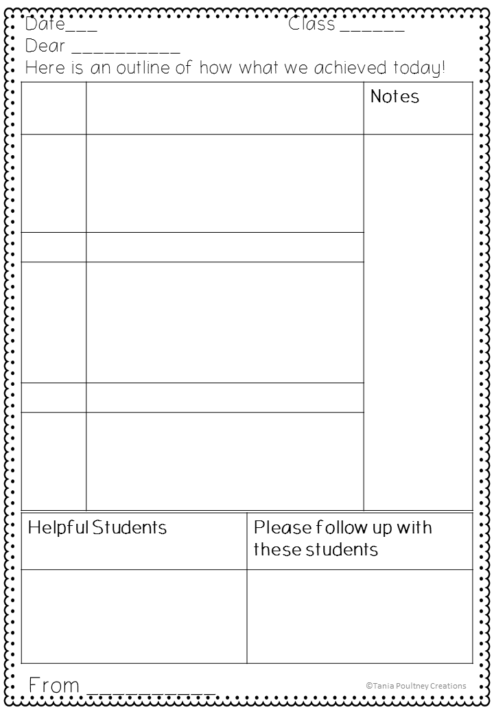 Free Printable Substitute Teacher Feedback Form Any Grade
