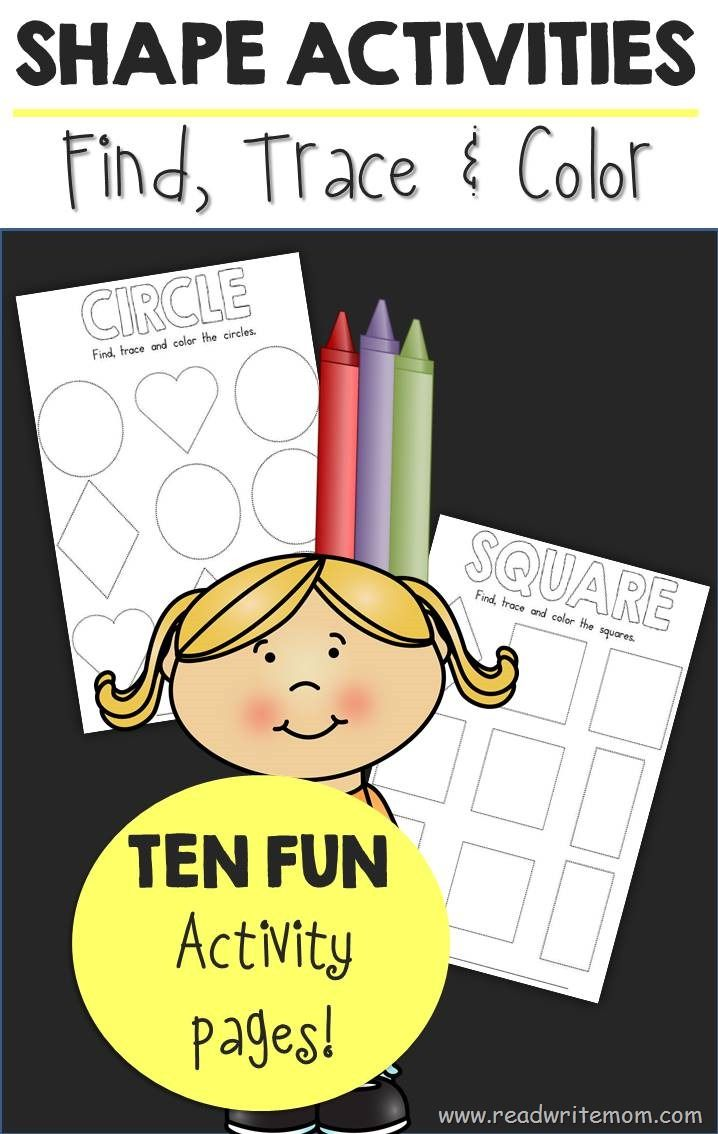 Colouring shapes activities - Free Printable Shape Activities Find Trace And Color