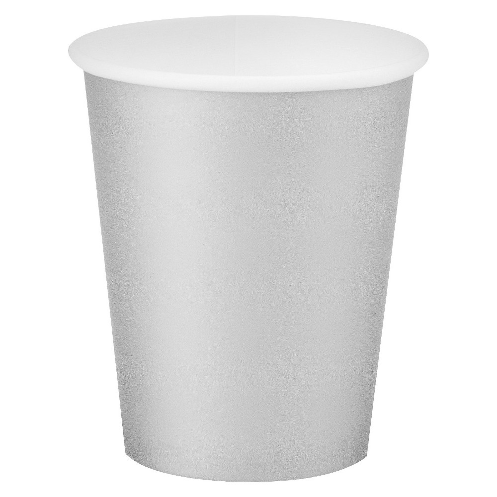 Shimmering Silver 9oz Paper Cups - 24 count