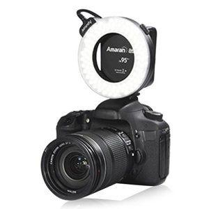 Aputure Amaran Ahl Hn100 Boitier 100 Led Flash Annulaire Lampe Torche Indice De Rendu Des Couleurs 95 Pour Nikon D600 D7000 D3100 D5100 D5000 D3300 D4s Df D530 Nikon Flash Annulaire Lampe Torche