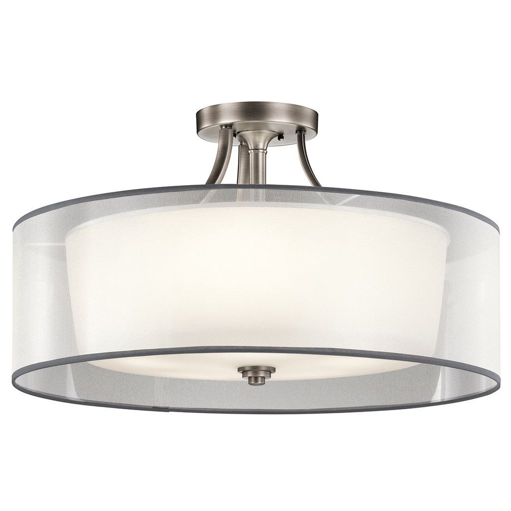 Kichler Lighting Lacey Collection 5-light Antique Pewter Semi Flush ...