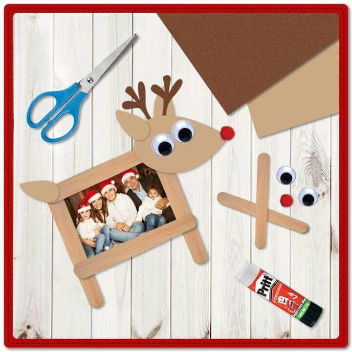 Portaretratos reno nadal pinterest navidad - Manualidad ninos navidad ...
