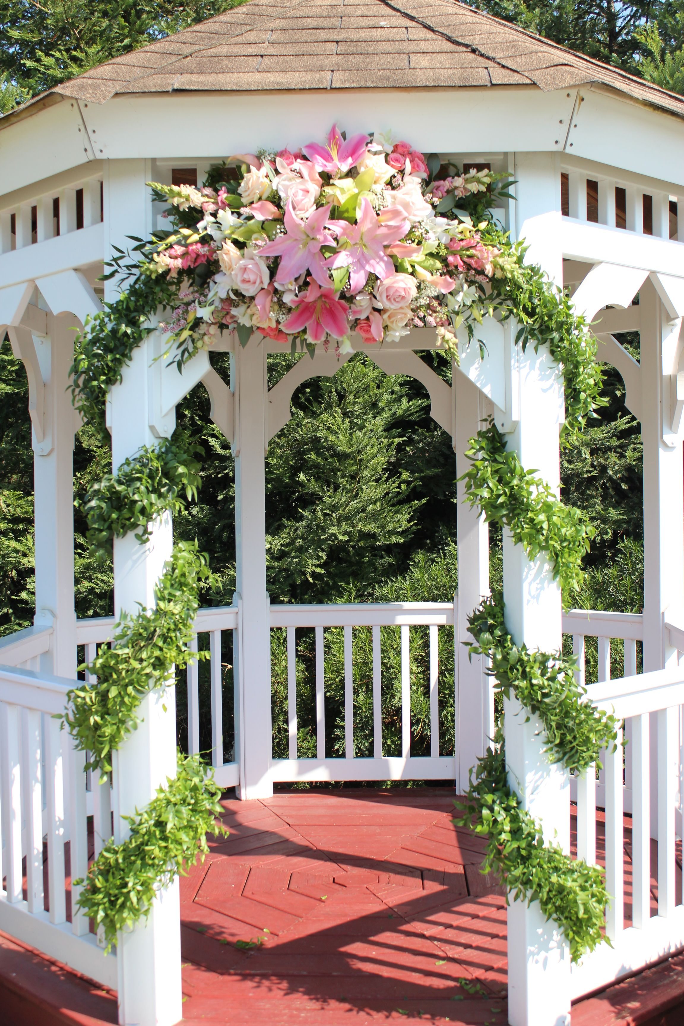 Pink Wedding Gazebo Flowers Gazebo Wedding Gazebo Wedding