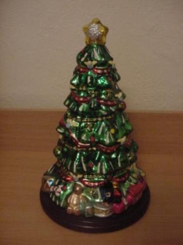 QVC RETIRED THOMAS PACCONI LARGE 17 INCH CHRISTMAS TREE GLASS BLOWN  FIGURINE   eBay - QVC RETIRED THOMAS PACCONI LARGE 17 INCH CHRISTMAS TREE GLASS BLOWN