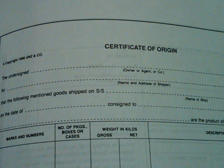 Export Shipping Documentation You Will Need Export Sale - certificate of origin sample